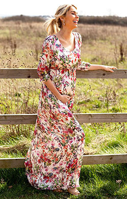 Lucy Maternity Maxi Dress Wildflower Garden