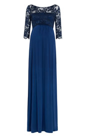 Lucia Maternity Gown Long Imperial Blue