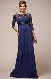 Lucia Maternity Gown Windsor Blue