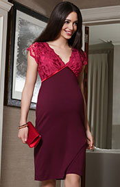 Luella Maternity Shift Dress Bright Rose