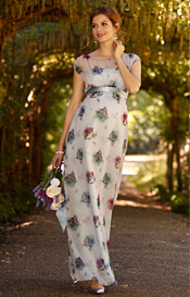 Maya Maternity Gown Long Dusky Floral