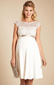 Mia Maternity Dress Ivory