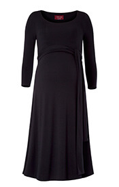 Naomi Maternity Nursing Dress Black