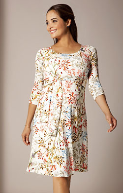 Naomi Maternity Nursing Dress Watercolour Meadow