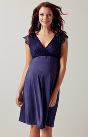 Nina Maternity Dress Dusky Blue