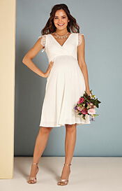 Nina Maternity Wedding Dress Ivory