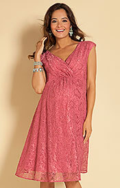 Nicola Lace Dress in Desert Rose
