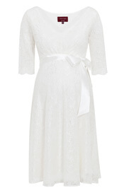 Noelle Maternity Wedding Dress Short Ivory