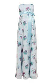 Ocean Maternity Gown Long Dusky Floral