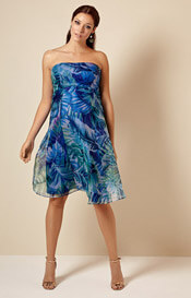 Ocean Maternity Gown Short Jungle Blue