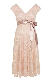 Orla Maternity Lace Dress Pearl Blush