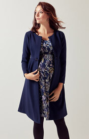 Roma Maternity Dress Coat Midnight Blue