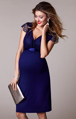 Rosa Maternity Dress Indigo Blue