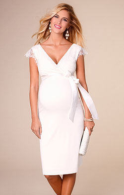 Rosa Maternity Wedding Dress Ivory White