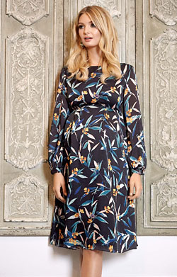 Sally Maternity Dress Forest Night