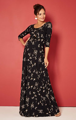 Samantha Maternity Maxi Dress in Night Blossom