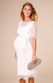 Starla Maternity Wedding Dress Short Ivory