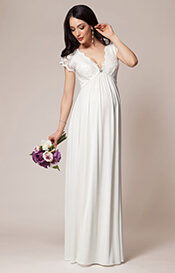 Sevilla Maternity Gown Long Ivory