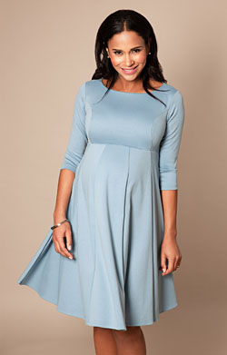 Sienna Maternity Dress Short Cashmere Blue