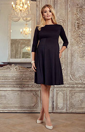 Sienna Maternity Dress Short Black