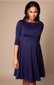 Sienna Maternity Dress Short Navy Blue