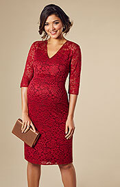 Suzie Maternity Dress Short Deep Red