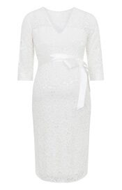 Suzie Maternity Wedding Dress Short Ivory