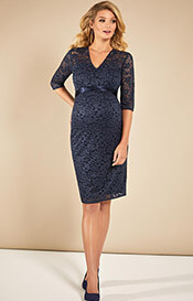 Suzie Lace Maternity Dress Navy
