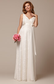 Thea Maternity Gown Long Ivory