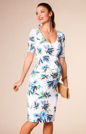 Tilly Maternity Shift Dress Inky Tropics