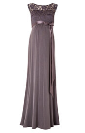 Valencia Maternity Gown Long Charcoal