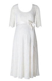 Verona Maternity Wedding Dress Short Bright Ivory