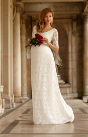 Verona Maternity Wedding Gown Ivory White