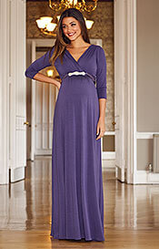 Willow Maternity Gown Long Grape