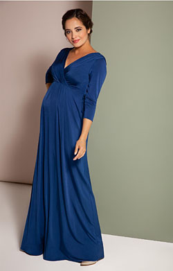 Willow Maternity Gown Imperial Blue