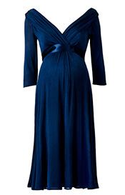 Willow Maternity Dress (Midnight Blue)