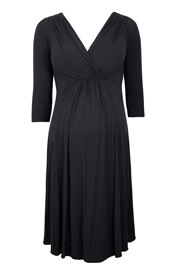 Willow Maternity Dress Cocoa Noir