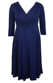 Willow Maternity Dress Eclipse Blue