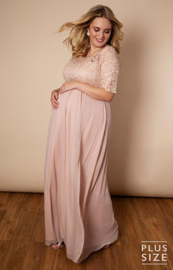 Alaska Plus Size Maternity Chiffon Wedding Gown