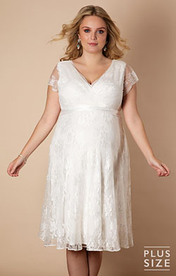 Eden Gown Short Plus Size Maternity Wedding Dress