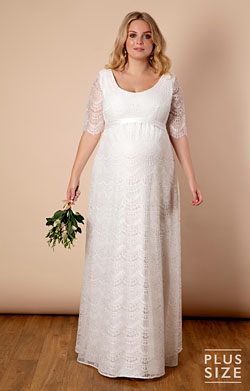 Verona Plus Size Maternity Wedding Gown Ivory White