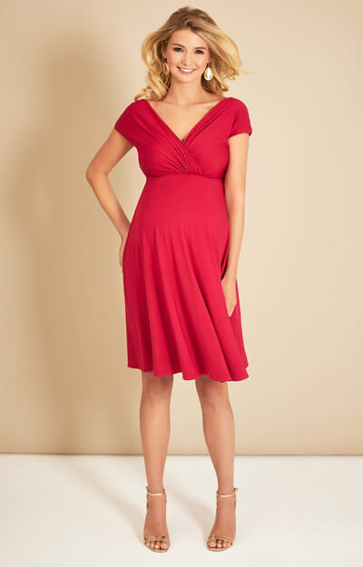Alessandra Maternity Dress Short Bright Rose by Tiffany Rose