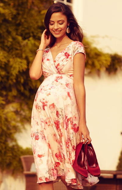 Alessandra Maternity Dress Short English Rose by Tiffany Rose