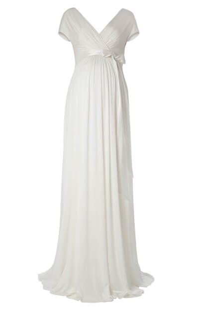 Alessandra Maternity Wedding Gown Long (Ivory)