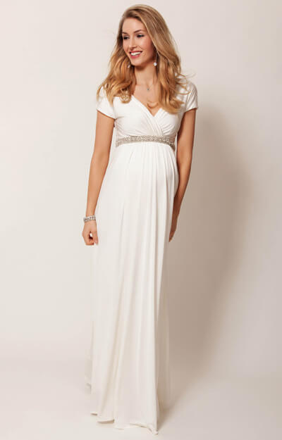 Alessandra Maternity Wedding Gown Long (Ivory) by Tiffany Rose