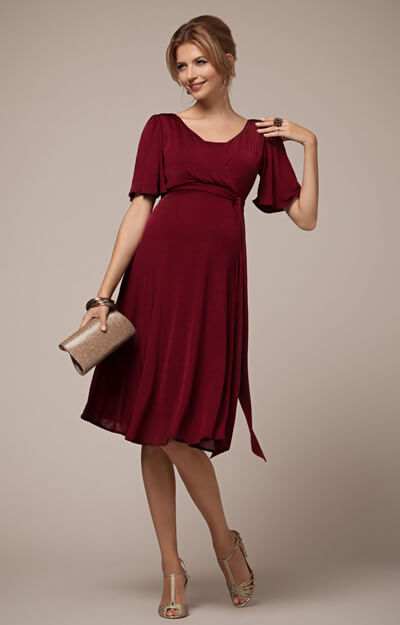 Alicia Nursing Dress Berry