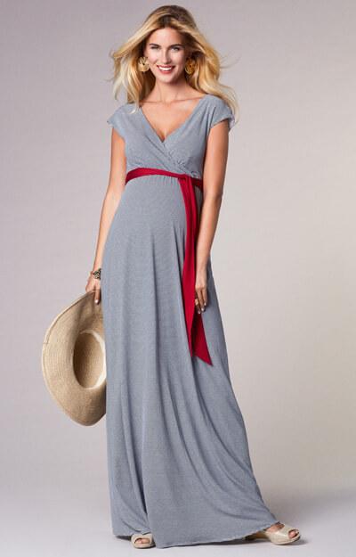 Alana Maternity Maxi Dress Cruise Stripe Maternity Wedding Dresses Evening Wear And Party