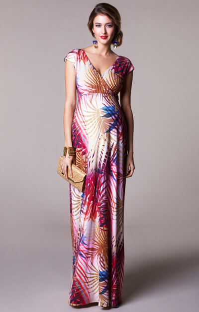 Alana Maternity Maxi Dress Hot Tropics
