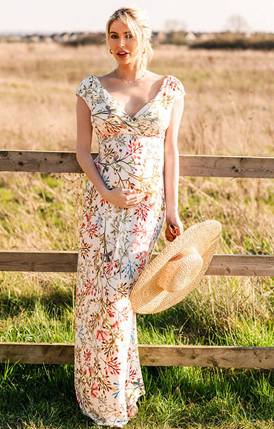 Alana Maternity Maxi Dress Watercolour Meadow