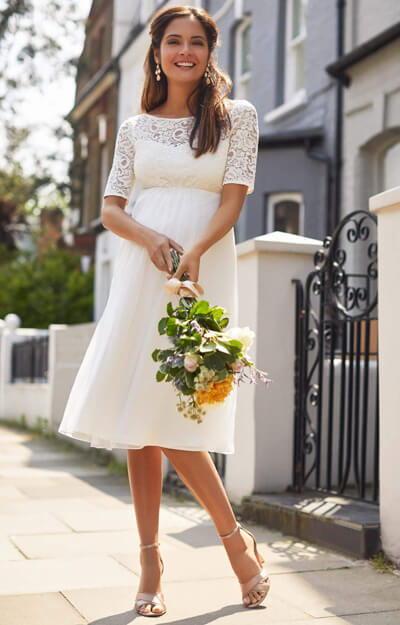 Alaska Maternity Silk Chiffon Wedding Dress Ivory by Tiffany Rose